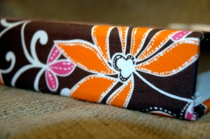 funky florals . brown . pink . orange